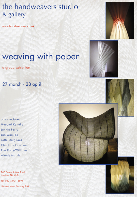 Weaving with paper exhibition posterLR