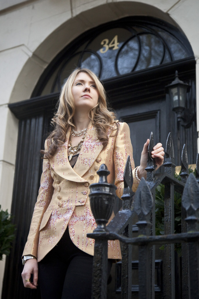 03. Beatie Wolfe - Musical Jacket outside 34 Montagu Square - Photo by Ollie Smallwood