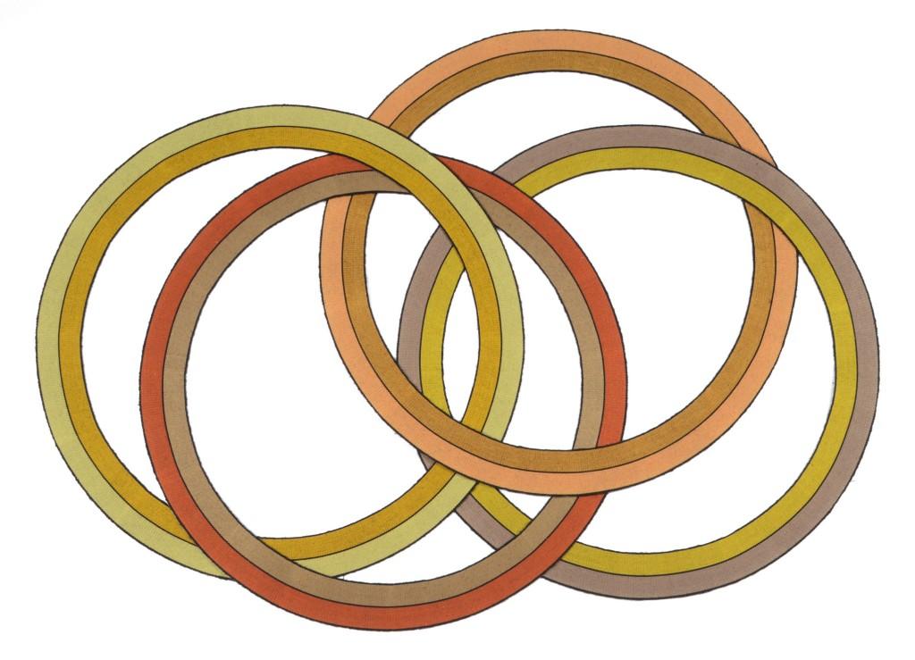 Deirdre Woods Multi interlocking rings