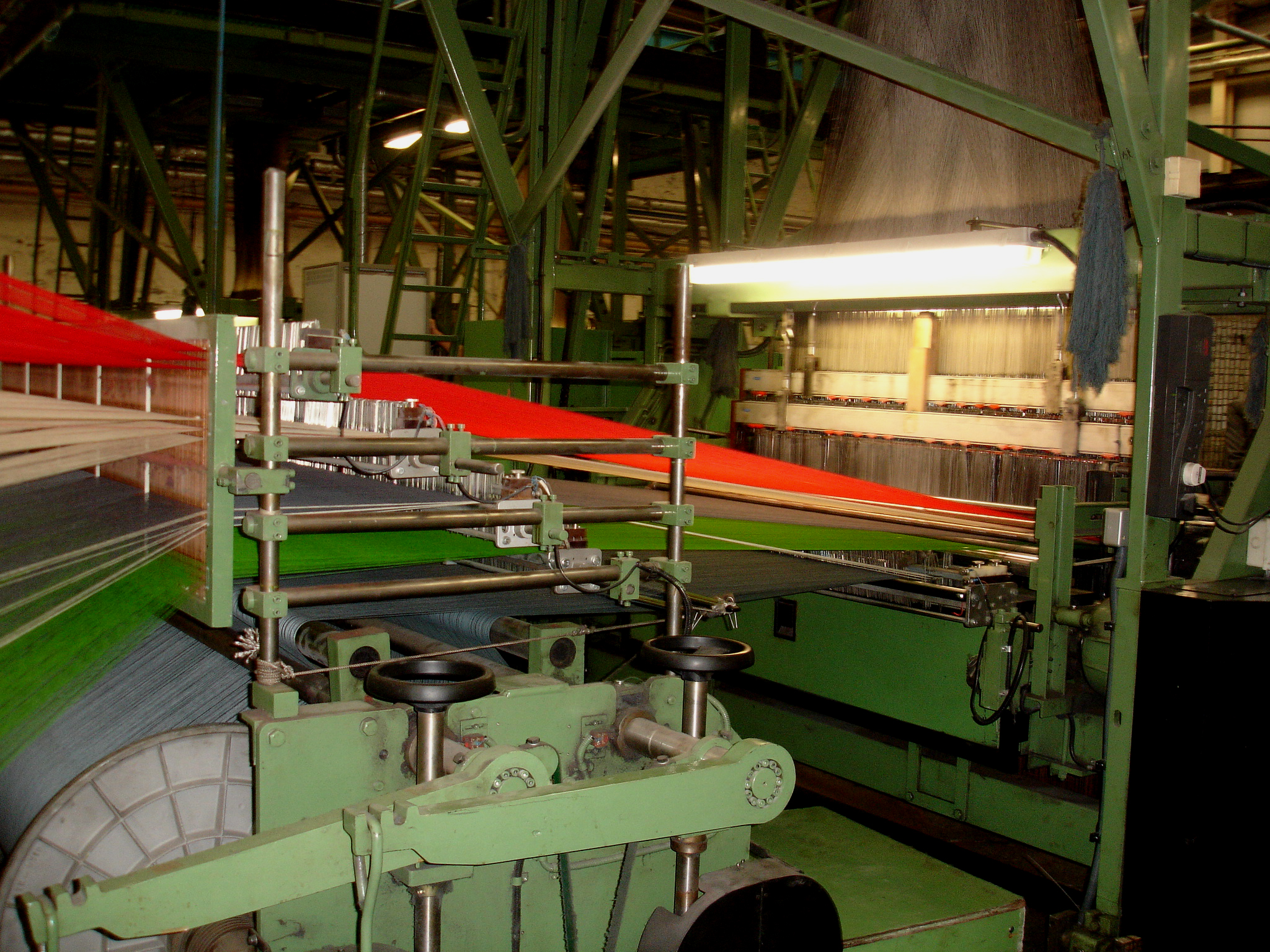 Wallace sewell tram loom the weave shed for London underground moquette